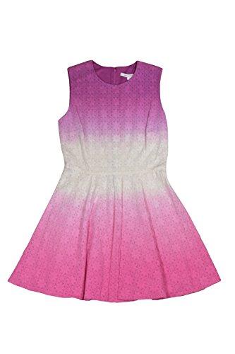 Diane Von Furstenberg Jeannie Pink Eyelet Dress - Diane Furstenberg Von Long Dress