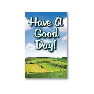 Moments With The Book Have A Good Day! (Gospel Tract, Packet of 100, NKJV) : Garden & Outdoor