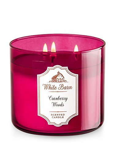 White Barn Candle 3 Wick 14.5 Ounce Cranberry Woods