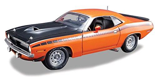 1970 Plymouth AAR Cuda Vitamin C Orange Limited Edition to 1254 pieces Worldwide 1/18 Diecast Model Car by Acme A1806106 -