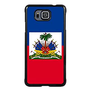 Samsung Galaxy Alpha Case ,Fashion And Unique Designed Samsung Galaxy Alpha Case With Haitian Haiti Flag Black Hight Quality Cover