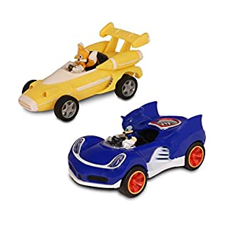 Sonic Transformed All-Stars Racing Pull Back Action: Tails and Sonic Hedgehog