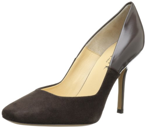Marvin K Women's Lucianna, Coffee Suede Combo 9 M US Aquatalia By Marvin K Pumps