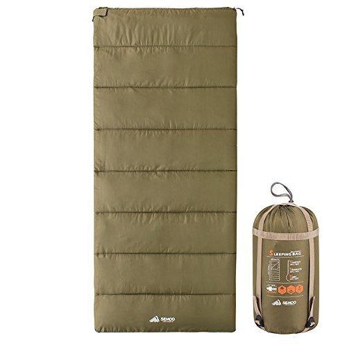 Semoo Saco de Dormir Muy Ligero, Impermeable, para Camping, Senderismo, Actividades al