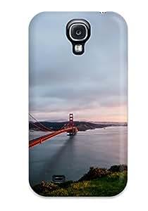 Flexible Tpu Back Case Cover For Galaxy S4 - Golden Gate Bridge