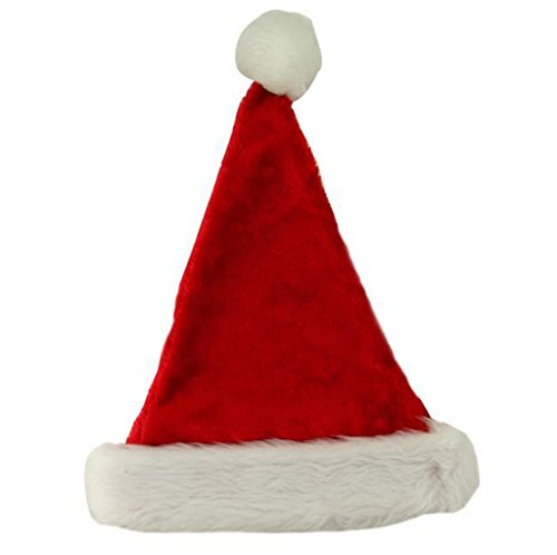 Deluxe Classic Mrs Claus Costumes (Eternatastic Christmas Adult Santa Hat Plush Santa Claus Party Hats Red (Pack of 3))