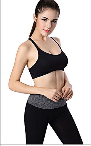 Ropa interior deportiva Mujer Yoga Gimnasio Vest Reunirse Ejecutar a prueba de choques de gran tamaño No Trace No Rims Bra #5