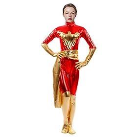 - 416Z6vQWgEL - Sheface Women's Metallic Phoenix Zentai Catsuit Halloween Costumes