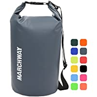 MARCHWAY Floating Waterproof Dry Bag 5L/10L/20L/30L/40L, Roll Top Sack Keeps Gear Dry Kayaking, Rafting, Boating, Swimming, Camping, Hiking, Beach, Fishing