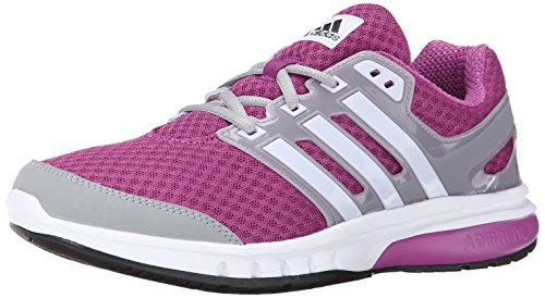 adidas Womens Galaxy Elite W Running Shoe Lucky PinkWhiteGrey 8.5 M US