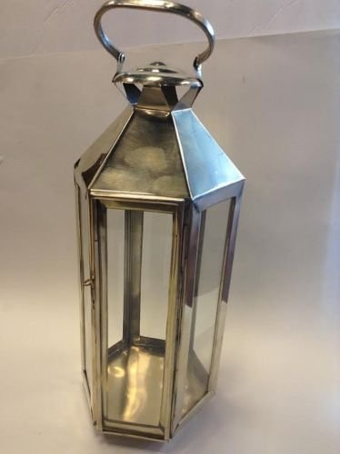 Amazon Com Moroccan Lanterns Hand Made In Silver Metal Finish