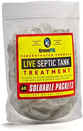 GreenPig Solutions 56 Concentrated Formula Live Septic Tank Treatment, 5 Year Supply