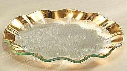 Annieglass 9 1/2 inch Salad Plate - Ruffle Series - Versatile Dining Item - & Amazon.com | Annieglass 9 1/2 inch Salad Plate - Ruffle Series ...