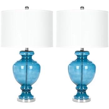 Amazon.com: Safavieh Lighting Collection Morocco Blue Glass 28 ...