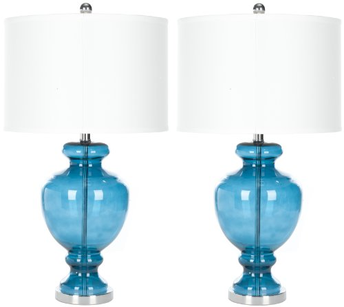 Morocco Blue Glass Table Lamp - Morocco Blue  - Safavieh&#17