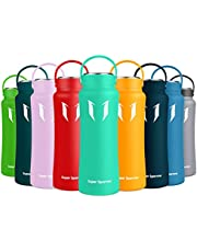 Super Sparrow Bottle - Stainless Steel Water Bottle - Wide Mouth - Double Wall Vacuum Insulated Flask - 500ml/750ml/1000ml - BPA Free - Leak-proof - for Fitness Outdoor Travel