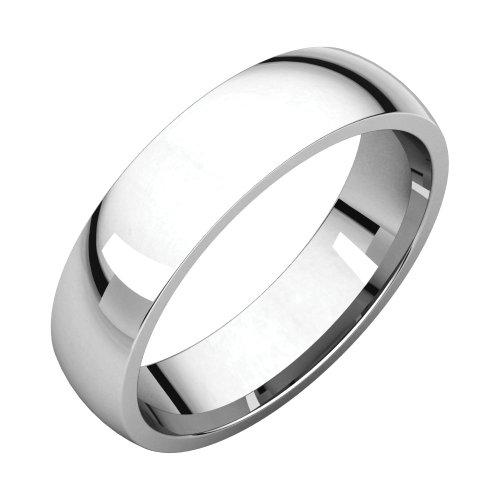 Bonyak Jewelry Palladium 5 mm Lightweight Comfort-Fit Band in Palladium - Size 10