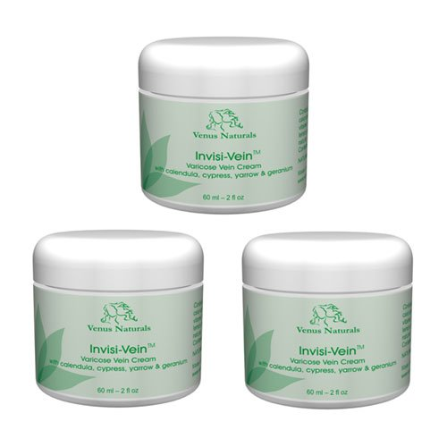 Invisi-Vein Varicose Vein Cream 2oz - 3 Jars - Best Value Pack
