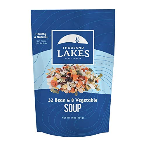 Thousand Lakes 32 Bean and 8 Vegetable Dry Soup Mix (1 pound / 16 ounces)