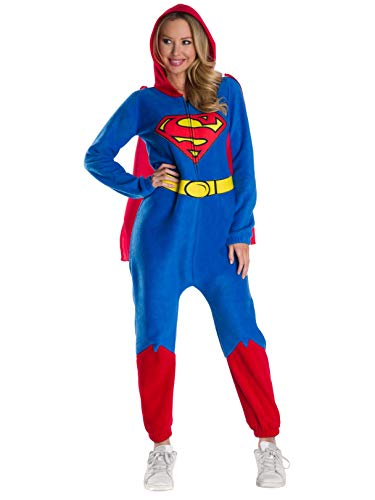 Rubie's DC Super Heroes Women's Superman Onesie Costume, Large, As As Shown, -