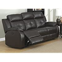 Christies Home Living Power Troy Espresso Transitional Sofa with 2 Recliners