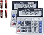Calculadoras de escritorio con batería y energía solar de dos vías, con botón sensible extra grande, 12 dígito
