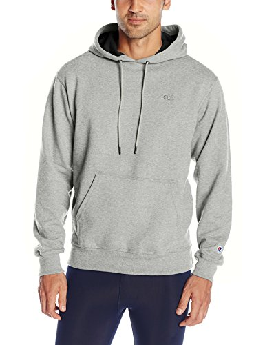 Champion Men's Powerblend Pullover Hoodie, Oxford Gray, Large
