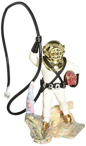 Action Air Diver with Hose Live-Action Aerating Aquarium Ornament - Color May Vary