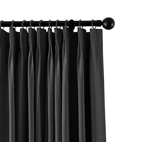 ChadMade Fireproof Flame Retardant Thermal Insulated Curtain Drapery Panel Pinch Pleat, Black 72'' W x 120'' L Home, Office, Hotel, School, Cinema Hospital (1 Panel), Exclusive by ChadMade (Image #10)