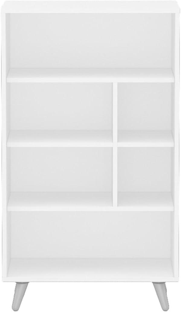 Polifurniture Sidney Four Shelf Bookcase, White