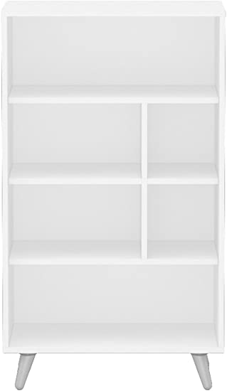 Polifurniture Sidney Four Shelf Bookcase, White