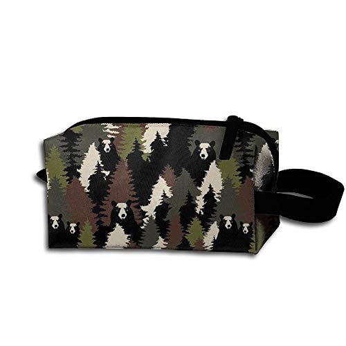 Quick Makeup Bag Travel Pencil Waterproof Camouflage Case Beautiful Cosmetic Bears Ax4qTw7H