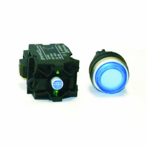 American LED-gible SW-2837-116, 120VAC Illuminated Blue Push button switch, Extended Face (Lighted Push Button Switches)