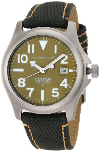 Momentum Men's 1M-SP00G14G Atlas Green Dial Green Snowboard Nylon Watch