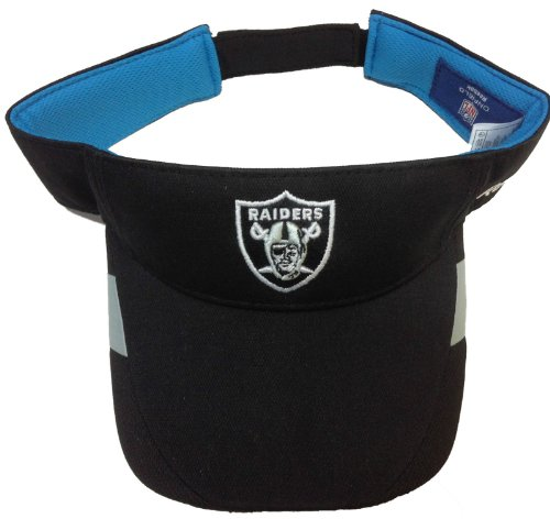 Reebok NFL Oakland Raiders Sun Visor - Velcro Adjustable Hat Cap by Reebok