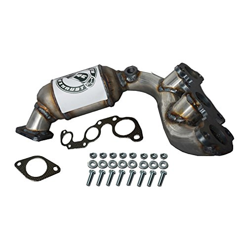 (Compatible Manifold Catalytic Converter Rear Right Bank 1 2004-2006 Toyota Sienna 3.3L AWD)
