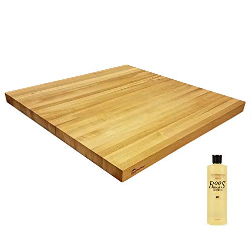 HomeProShops Solid Maple Wood Butcher Block Counter Top 1-1/2