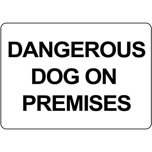 WenNuNa Señal metálica de aluminio para perro peligroso en ...
