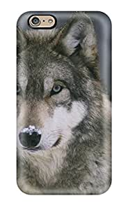 9764296K85977751 Awesome Animal Wolf Flip Case With Fashion Design For Iphone 6