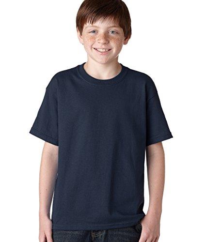 Gildan boys Heavy Cotton T-Shirt-NAVY-L