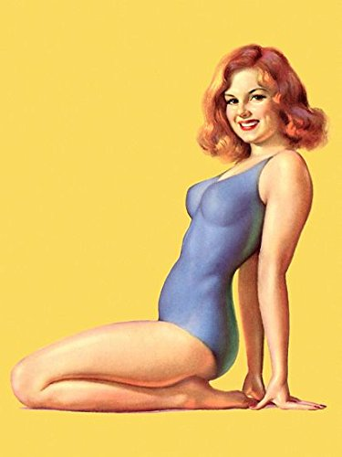 Pin Up Girl Redhead Pinup Posing Poster Paper