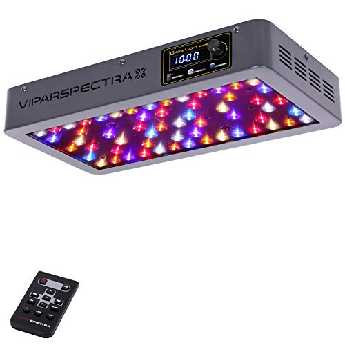 (VIPARSPECTRA Timer Control Series VT300 300W LED Grow Light - Dimmable Veg/Bloom Channels 12-Band Full Spectrum for Indoor Plants)