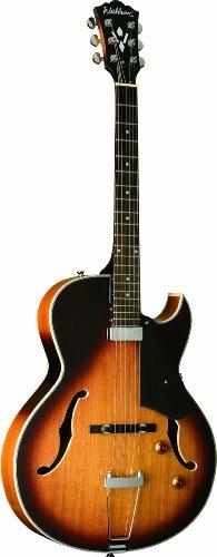 Washburn 6 String Hollow-Body Electric Guitar, Cutaway Tobacco SB (HB15CTSK-O)