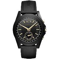 Armani Exchange Men's Hybrid Smartwatch, Black Silicone, 44 mm, AXT1004