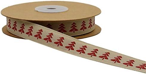 ロール織り トリム ジャカード クリスマス リボンギフト デコレーション 飾りテープ ラップ 全3種選べ - サンタの木