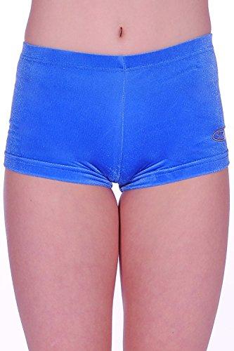Liscio Velluto Con Da Motif Reale Valentine Cuore Blu Hipster Ginnastica Pantaloncini q5YAda
