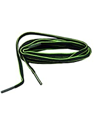 Black Green proATHLETIC (TM) Oval sneaker Laces Shoelaces 2 pair pack