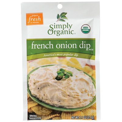 Simply Organic French Onion Dip 1.1 Oz (Pack of 12) by Simply Organic