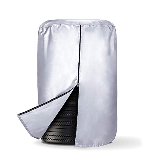 (Aebitsry Seasonal Tire Storage Cover, Car Spare Tires Bag 210D Oxford Cloth Waterproof Dustproof Sonw and UV Protection Fit Up to 32