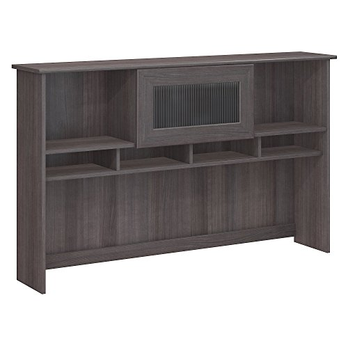 Bush Furniture Cabot Hutch in Heather Gray - Furniture Hutch